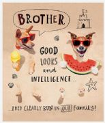 Brother Good Looks & Intelligence Birthday Card